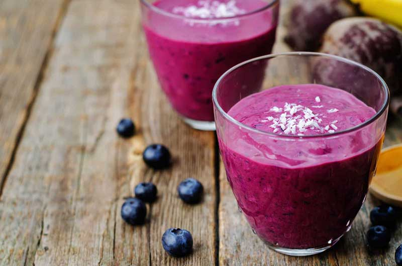 Albana Blueberry Slurpee Smoothie